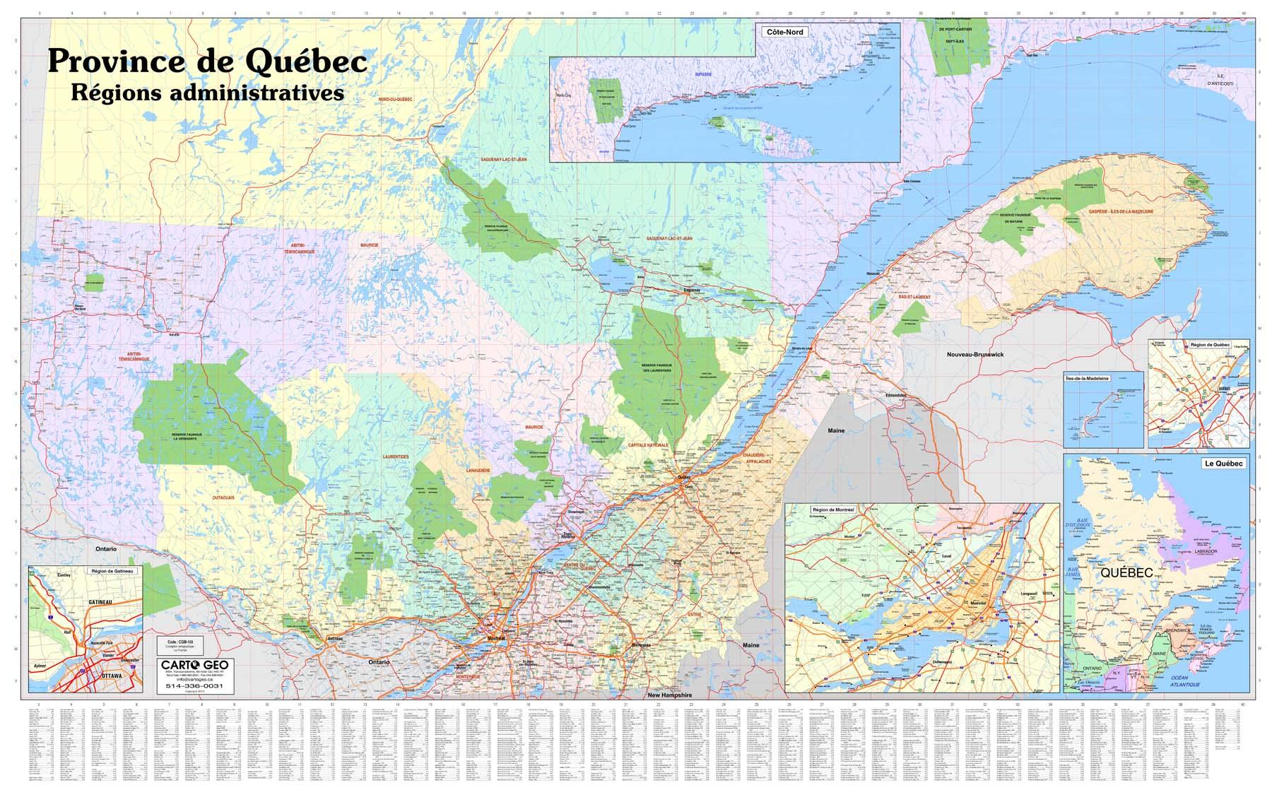 Carto Géo   Québec Méridional